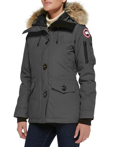 2bf60d3b53b Canada Goose Montebello Parka With Fur Hood In Graphite   ModeSens