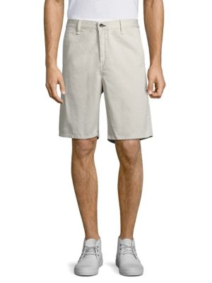 Rag & Bone 'standard Issue' Cotton Shorts In Pale Gray