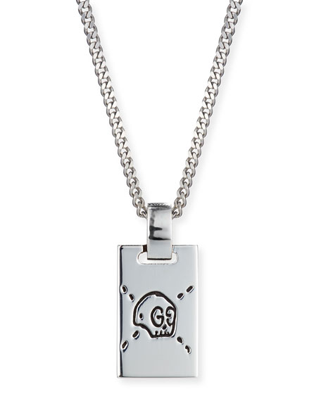 1d12a77d5 Gucci Ghost Men's Sterling Silver Pineapple Necklace In Na | ModeSens