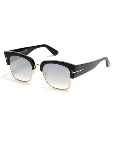 1df3644bfe Tom Ford Dakota 55Mm Gradient Square Sunglasses - Dark Havana  Blue Mirror  In Black