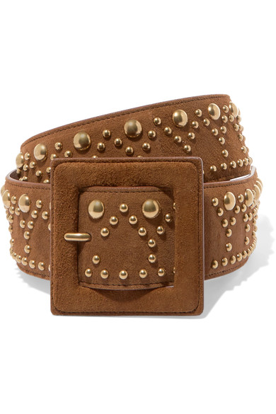 a9c8cdcac6 STUDDED SUEDE BELT