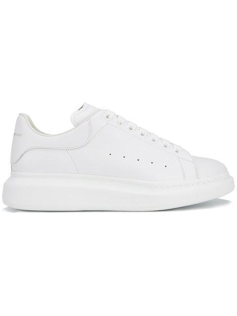 Alexander Mcqueen Ssense Exclusive White Glitter Oversized Sneakers