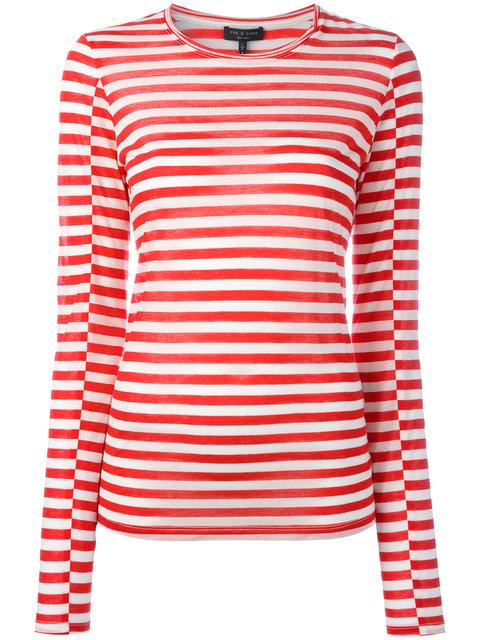 d12c826038 Rag & Bone Arrow Striped Long-Sleeve T-Shirt, Red/White In Blanc/Red ...