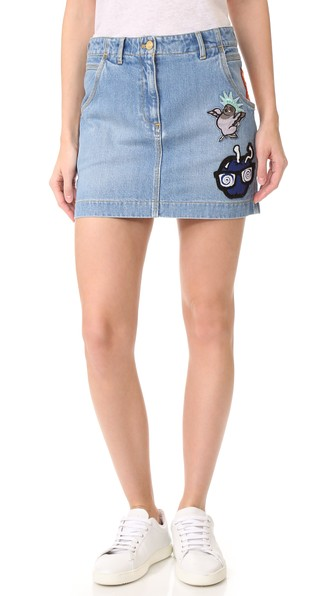 532803f6 Stonewashed Denim Skirt