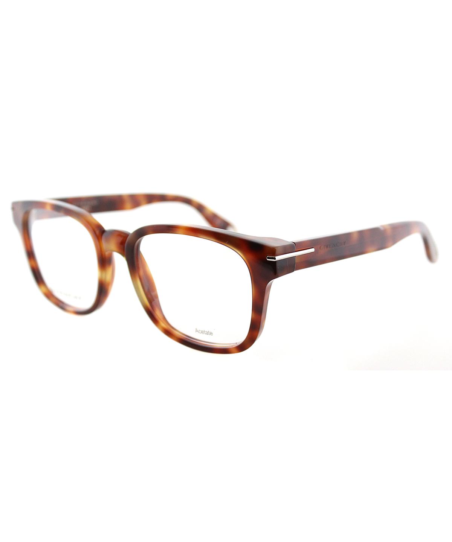 Givenchy Square Plastic Eyeglasses In Light Havana
