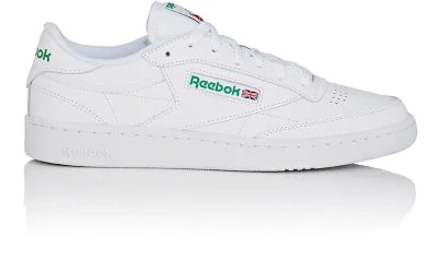 b2da1c667 Reebok Club C 85 Archive White Leather Sneaker And Green Logoes ...