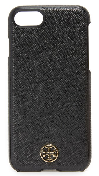 Tory Burch Robinson Hardshell Saffiano Leather Iphone 6/6s Case In Black