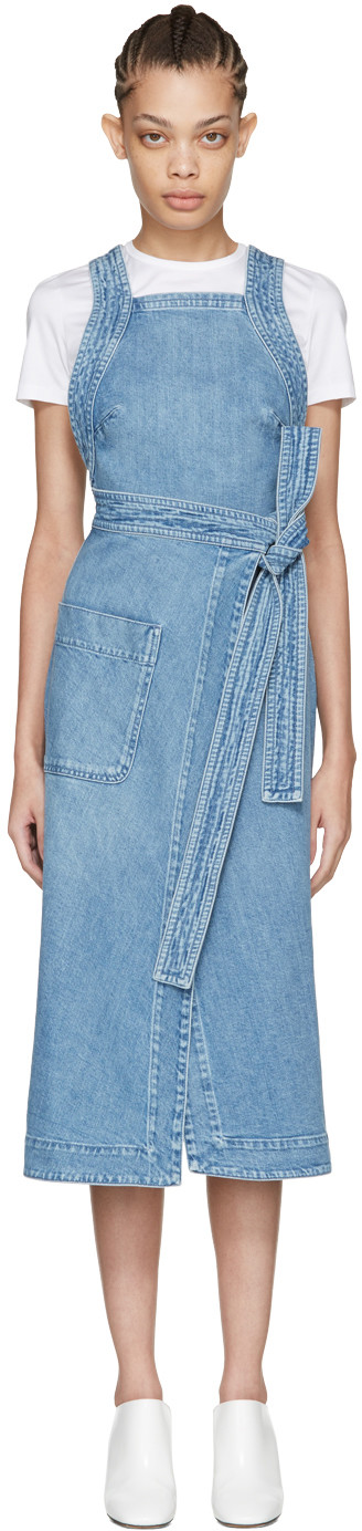 067aa35b96 Stella Mccartney Blue Denim Apron Dress
