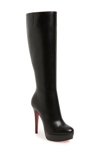 Christian Louboutin Bianca Botta Platform Red Sole Boot, Black