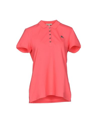 Burberry Logo Polo Shirt In Pomegranate Pink