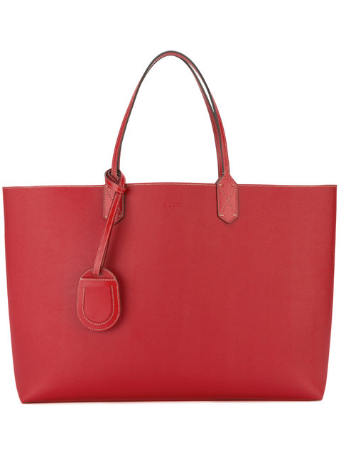 Gucci Reversible Medium Gg Logo Tote In 8411 Red