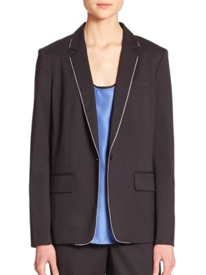 Rag & Bone Belmar Piped Blazer In Dark Navy