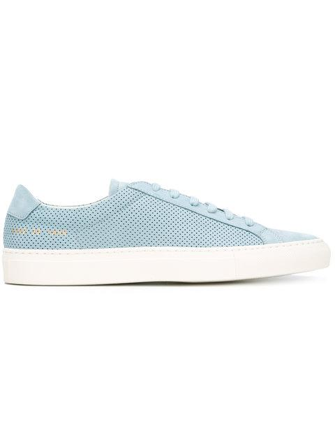 Common Projects Achilles Low-top Perforated-leather Trainers In Powder-blue