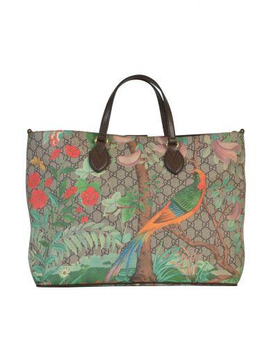 cea19cf36 Gucci Tian Gg Supreme Top-Handle Tote Bag, Brown | ModeSens