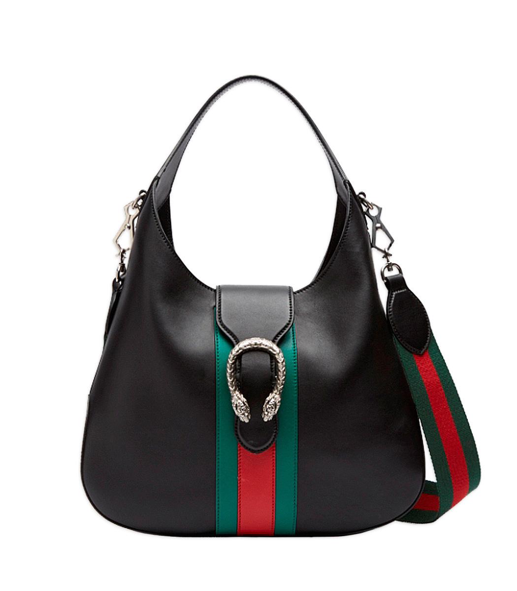f3a2ed8b91c6 Gucci Dionysus Medium Web-Stripe Hobo Bag, Black | ModeSens
