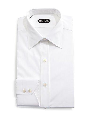 0e489bff7364 Tom Ford Classic French-Cuff Slim-Fit Dress Shirt, White   ModeSens