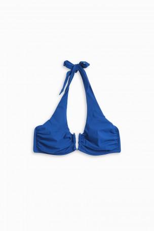 Heidi Klein San Diego Halterneck Bikini Top In Blue