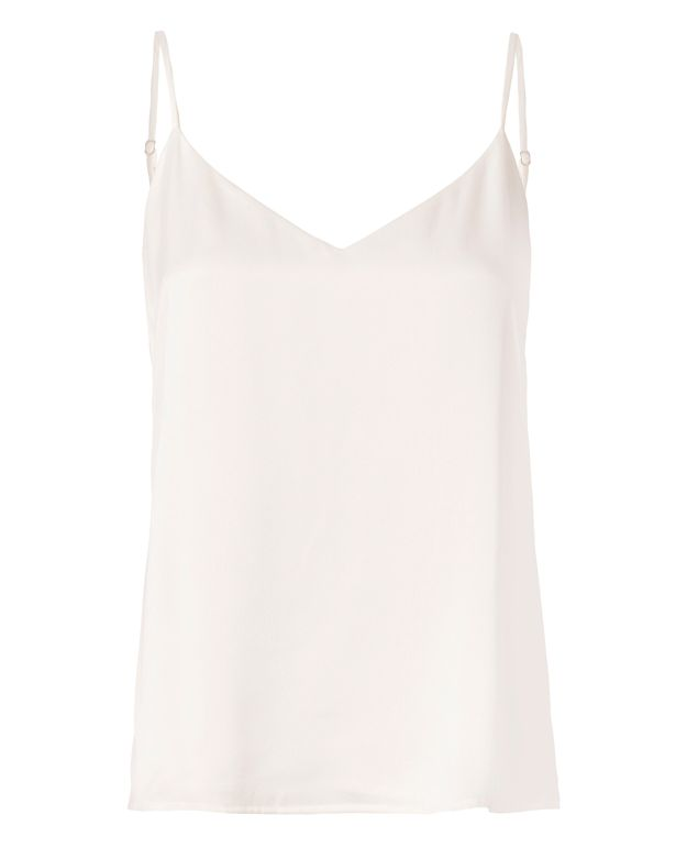 L Agence L'Agence Jane Silk Camisole In Ivory