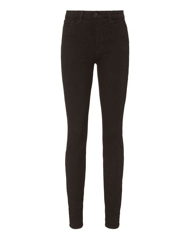 L Agence L'Agence Marguerite High-Rise Skinny Jeans In Black