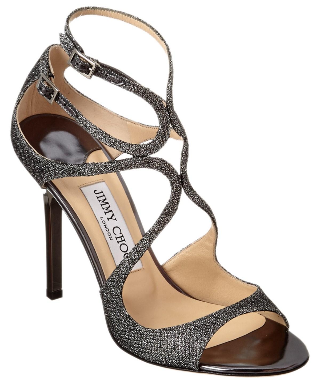 Jimmy Choo Lance Lame Glitter Fabric Sandal In Metallic