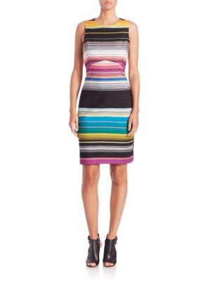 Missoni Striped Cutout Dress In Multi