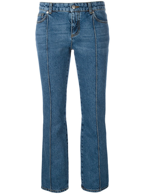 Alexander Mcqueen Cropped Flared Jeans - Blue