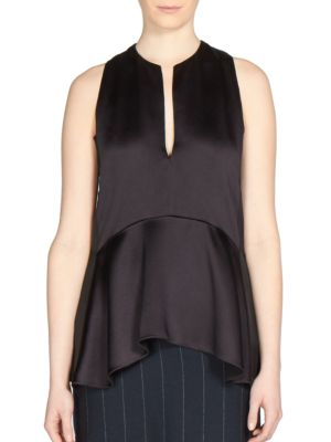 Lanvin Sleeveless A-line Blouse In Midnight