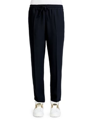 Valentino Silk Jogging Pants In Black