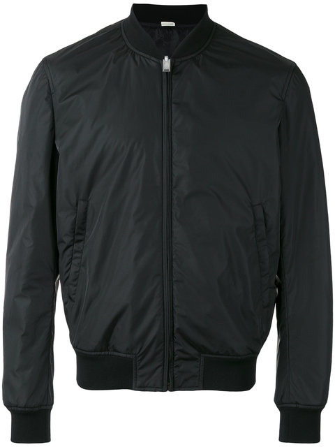 Gucci Reversible Shell Bomber Jacket In Black