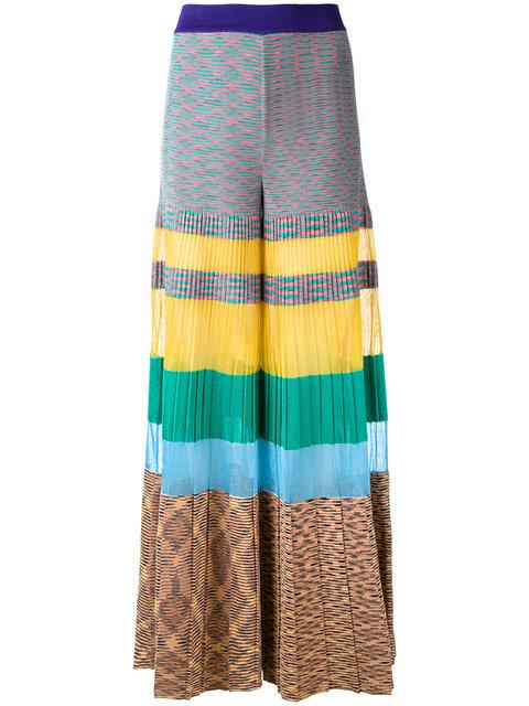 Missoni Knitted Cotton-blend Trousers In Multicoloured