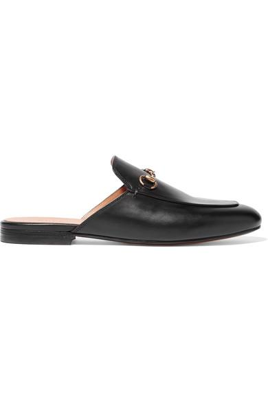 Gucci Slip-on Shoes Betis  Calfskin Horsebit-detail Black