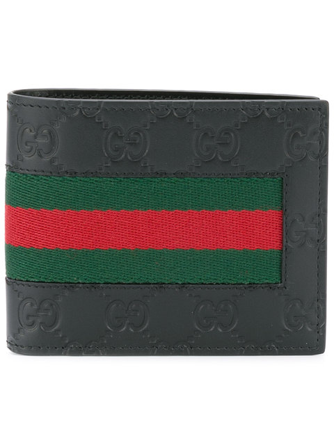 f308262e2ed5 Gucci Logo-Embossed Signature Web Wallet, Black | ModeSens