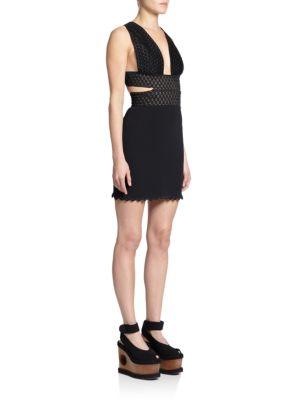 Stella Mccartney Ric-rack Embroidered Dress In Black