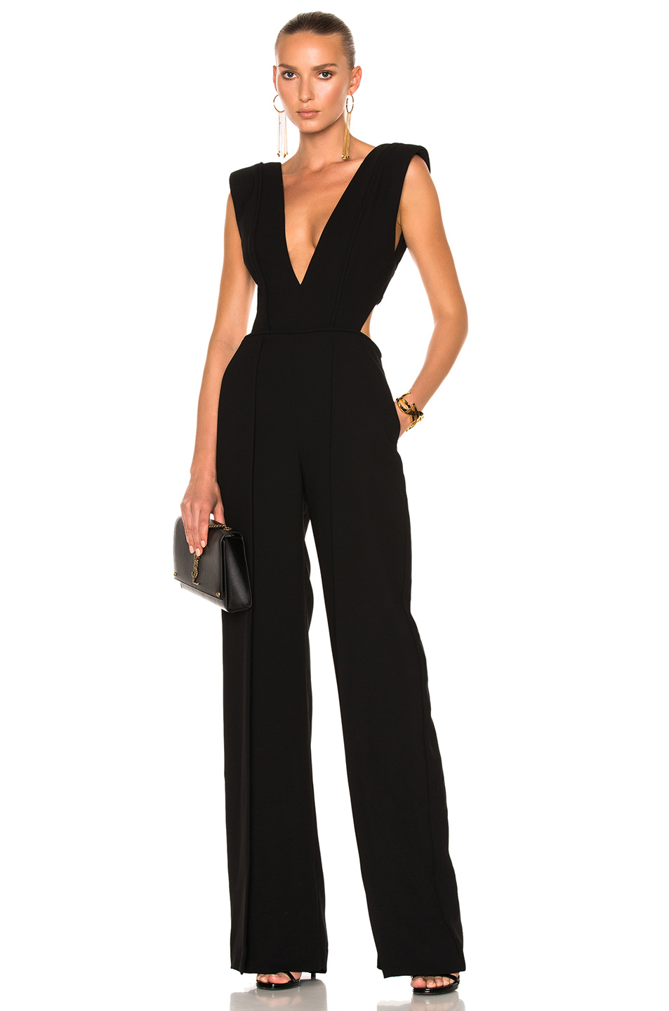 8998c7c4a02 Brandon Maxwell Plunging V-Neck Jumpsuit