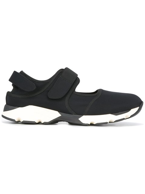 Marni Velcro-strap Low-top Trainers In Black