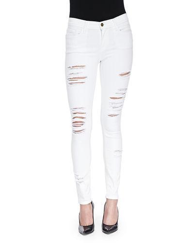 Frame White 'le Skinny De Jeanne' Jeans
