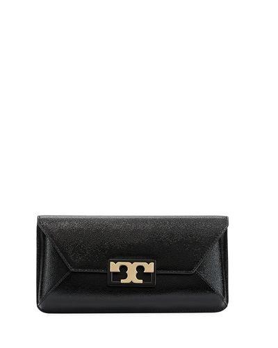 86e17504c296 Tory Burch Gigi Caviar Leather Clutch - Black