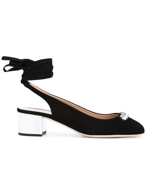 Giuseppe Zanotti 'gladis' Jewelled Mirror Leather Clog Sandals In Black