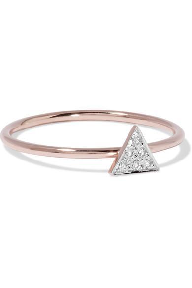 I+i 14-karat Rose Gold Diamond Ring