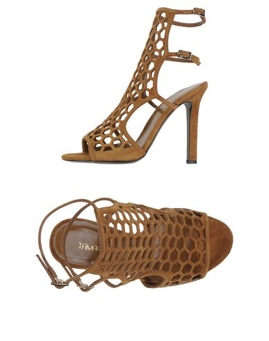 Tamara Mellon Scandal  Honeycomb Suede Sandals In Tae