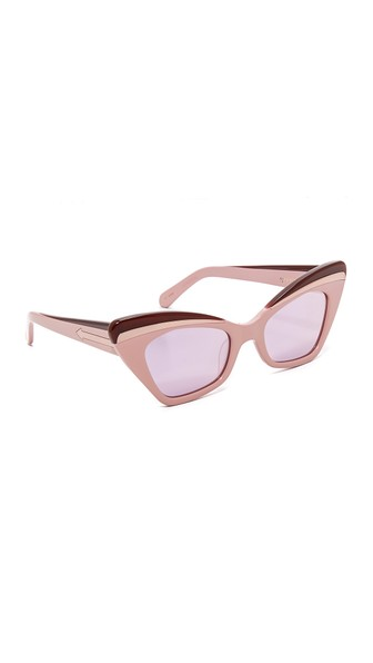 5902bf7b2ae Karen Walker Babou Cat-Eye Acetate And Silver-Tone Mirrored Sunglasses In  Pink