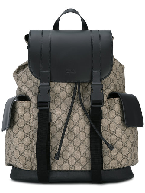 5026dd7404d02 Gucci Eden Flap Top Canvas Backpack - Beige In Brown