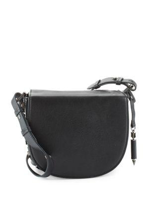 Mackage 'rima' Leather Crossbody Bag In Black/ Gunmetal