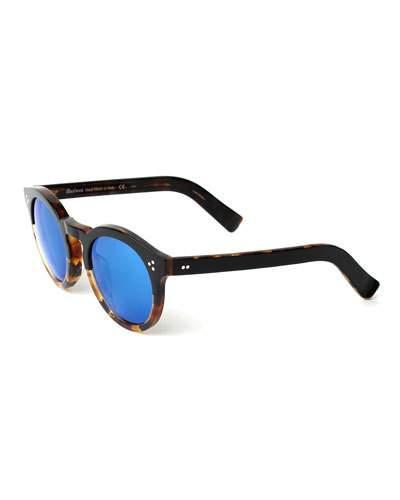0a5c350ab76 Illesteva Leonard Round Half   Half Sunglasses