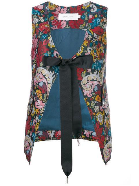 Marques' Almeida Floral Tied Waistcoat In Blue