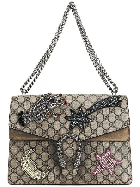 1fc37090bba909 Gucci Dionysus Medium Gg Supreme Sequin-Embroidered Shooting Star Bag In  Beige-Multi