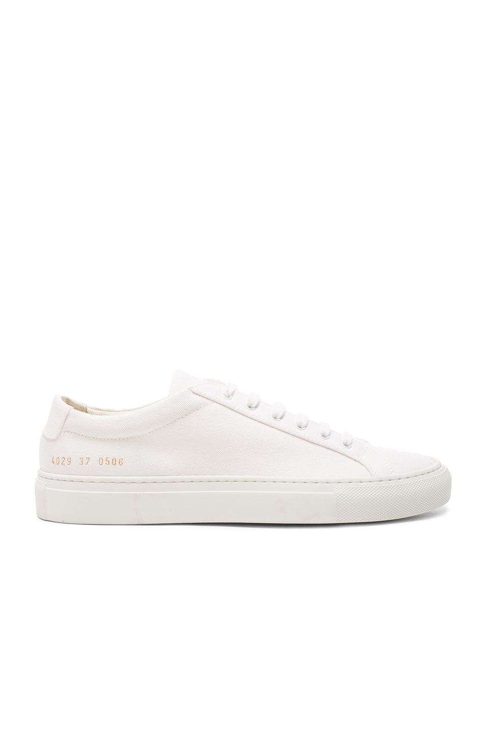 bc3ff25934cf0 Common Projects Achilles Super Leather And Canvas Sneakers In White ...