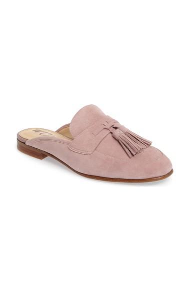 19afdabf1 Sam Edelman Paris Backless Tassel Loafer In Pink Mauve