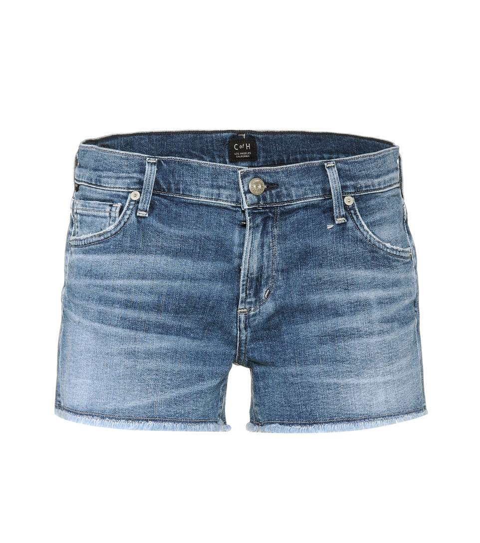 e5399e08a2b Citizens Of Humanity  Ava  Frayed Denim Shorts In Modern Love