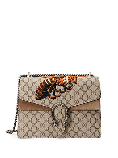 2d6de46a260 Gucci Dionysus Medium Embroidered Coated Canvas And Suede Shoulder Bag In  Multi